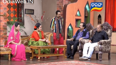 Photo of Odia Actor Saroj and Commedian Braja at Ambika Khudinka Handisala Tarang TV