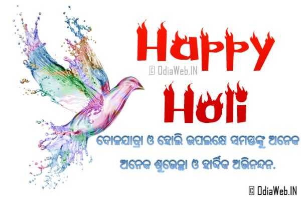 Happy Holi Odia Greetings Cards and Scraps Messages 2015