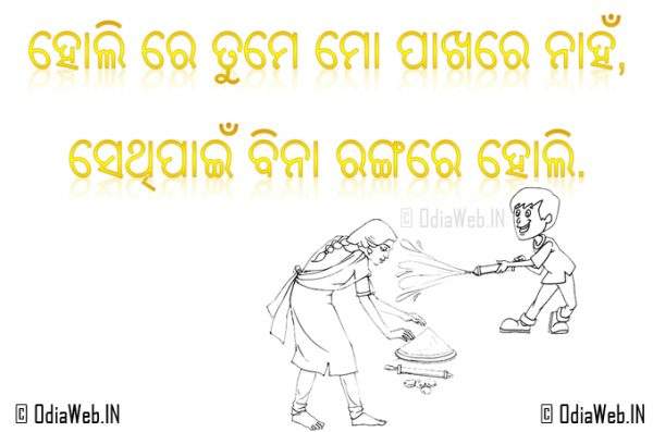 Oriya Shayari For Holi In Odisha