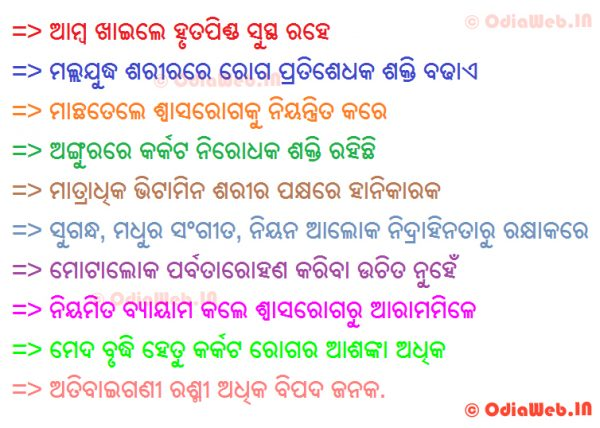Top 10 oriya health tips in oriya language