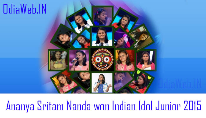 Ananya Sritam Nanda won Indian Idol Junior 2015