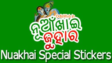 Nuakhai 2015 Special Stickers For WhatsApp Hike Facebook