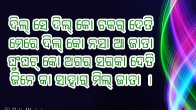 Hindi Shayari Love in Odia Language