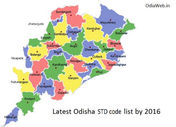 Latest Odisha STD Code List 2016
