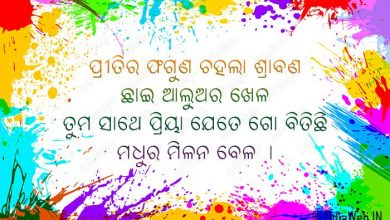 Oriya Happy Holi Shayari Sms HD Download