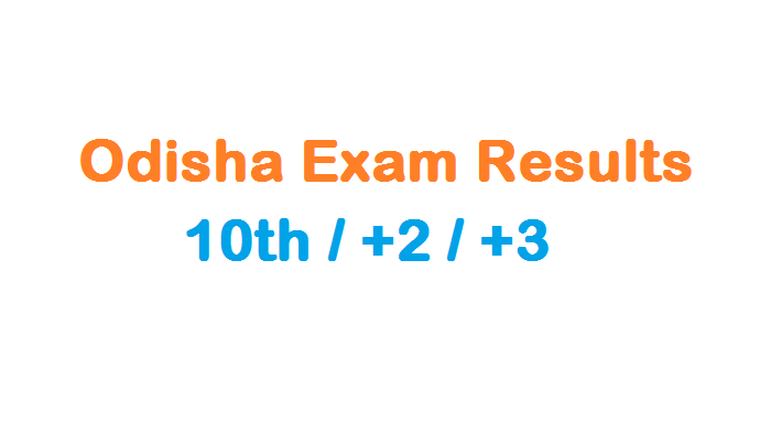 Odisha Exam Results