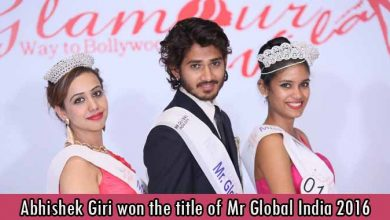 Abhishek Giri won the title of Mr Global India 2016
