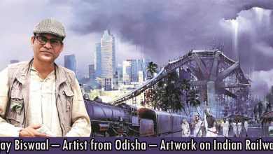 Bijay Biswaal – Artist from Odisha – Artwork on Indian Railways
