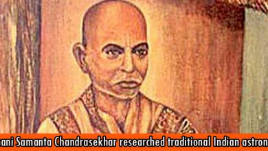 Pathani Samanta Chandrasekhar researched traditional Indian astronomy