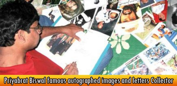Priyabrat Biswal famous autographed images and letters Collector