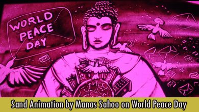 Sand Animation by Manas Sahoo on World Peace Day