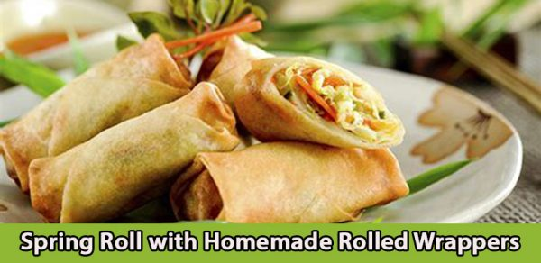 Spring Roll with Homemade Rolled Wrappers